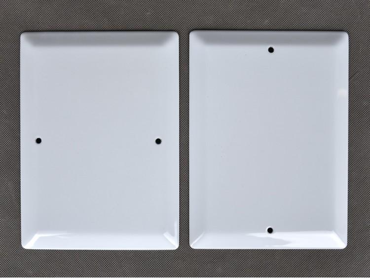 Фотомедальоны металлокерамика с отверстиями.